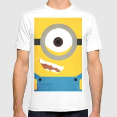 Simple Heroes - Minion Mens Fitted Tee White MEDIUM