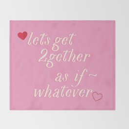 As If ~ (pink) Throw Blanket
