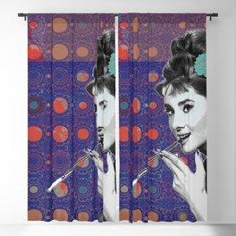 Audrey Hepburn smoking Blackout Curtain