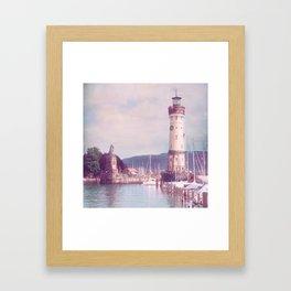 Lighthouse at Lindau, Lake of Constance Framed Art Print
