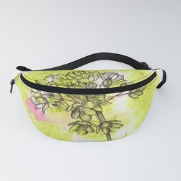 Allium on Green with Pink Fanny Pack