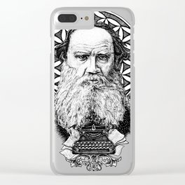 Tolstoy Clear iPhone Case