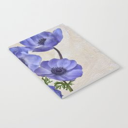 Pretty Periwinkle Poppies Notebook