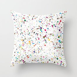 Confetti Paint Splatter Throw Pillow