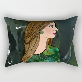 Bibi and the Botanic Garden Rectangular Pillow