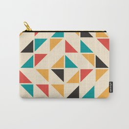 Triangles Mid Century Pattern Carry-All Pouch