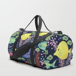 Reef Fish (navy background) Duffle Bag