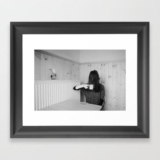 CZARNY TABLE Framed Art Print