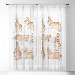 Bunnies in Tales of Peter Rabbit  characters Beatrix Potter Sheer Curtain