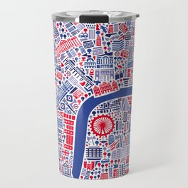 London City Map Poster Travel Mug
