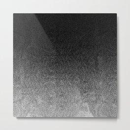 Silver & Black Glitter Gradient Metal Print
