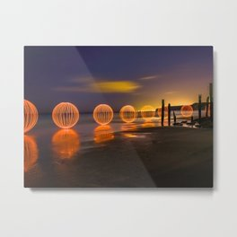 THE OC - Light Painting at Port Willunga, South Australia. Metal Print