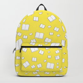 Sunny Yellow Flying Books Pattern Backpack