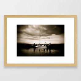 Moored Framed Art Print