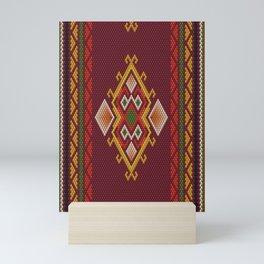 Arabic, ethnic ornament, pattern, mosaic, embroidery. Mini Art Print