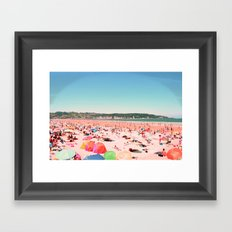Greetings From The Most Colorful Of Beaches Framed Art Print