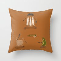 mexican Throw Pillows featuring Mexican Standoff by Lorenzo Cestaro