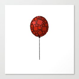 Rise Up - Little Red Balloon - Love - Children - 57 Montgomery Ave Canvas Print