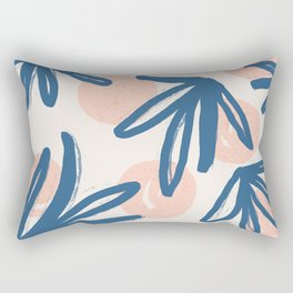 Lovely abstract hand paint art with leaves on pastel background illustration pattern Rectangular Pillow