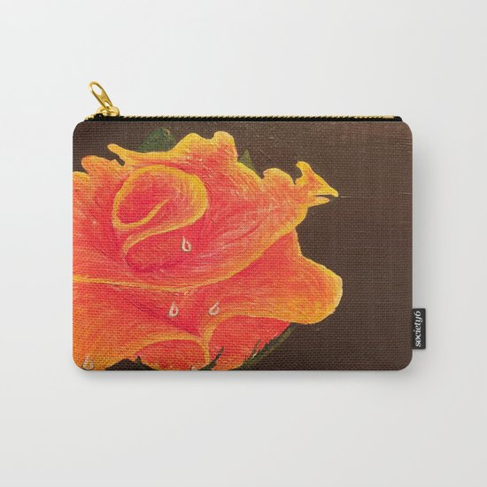 Orange Dream Rose in Acrylic Carry-All Pouch
