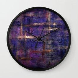 Stars at dusk Wall Clock