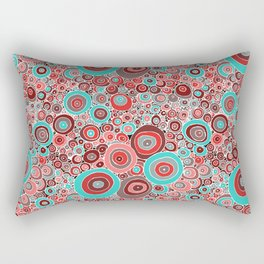 Poppies in the rain Rectangular Pillow