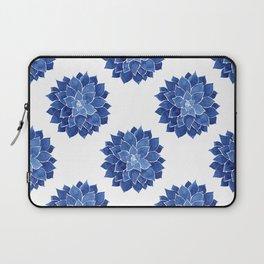 Indigo Succulent |  Watercolor Painting Laptop Sleeve