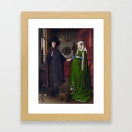 The Arnolfini Portrait, Jan van Eyck, 1434 Framed Art Print