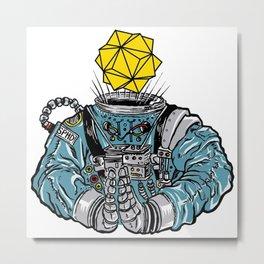ASTRO-HEAD BUST Metal Print