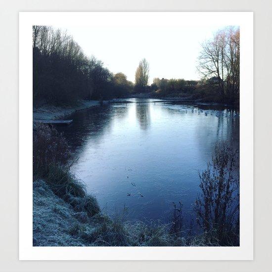 The Frozen Lake Art Print