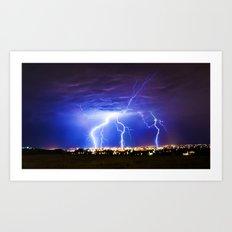Chasing Storms Art Print