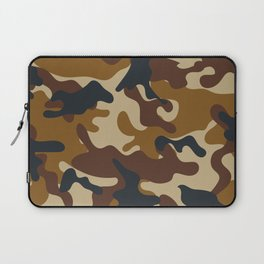 Brown Army Camo Camouflage Pattern Laptop Sleeve