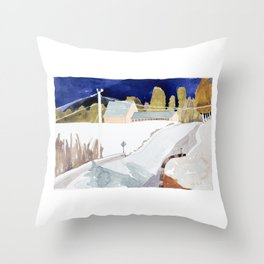 Barn on West Kingfield Road, #1 Throw Pillow