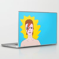 bowie Laptop & iPad Skins featuring Bowie by tizia