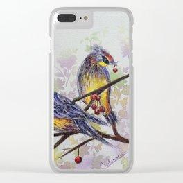 Love Birds 2 | oiseaux amoureux 2 Clear iPhone Case
