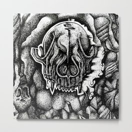 Black and Bone Dry Metal Print