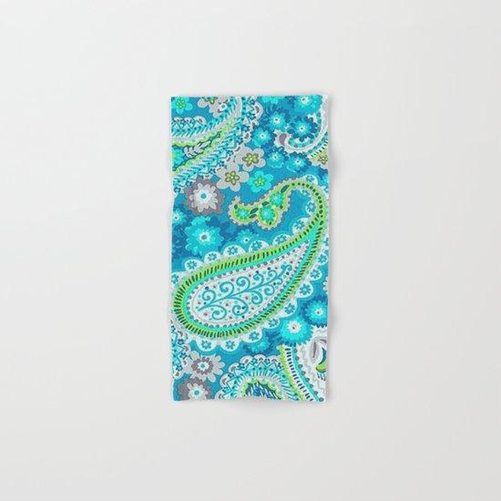 Floral Paisley Pattern 02 Hand & Bath Towel