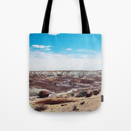 Along the painted desert Tote Bag