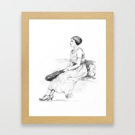 Fashionable Woman Framed Art Print
