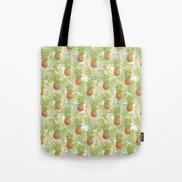Watercolor tropical pineapple pattern Tote Bag