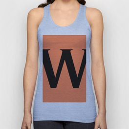 W MONOGRAM (BLACK & CORAL) Unisex Tank Top