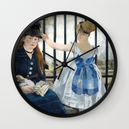 Edouard Manet - Le Chemin de fer (The Railroad) Wall Clock