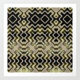 Tribal Gold Glam Art Print
