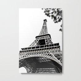Eiffel Tower in Paris, France. Metal Print