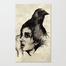 Trying  to forget my crow... Canvas Print