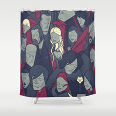 Ice and Fire Shower Curtain
