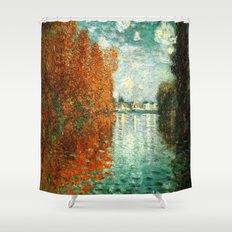 Monet : Autumn Effect at Argenteuil Shower Curtain