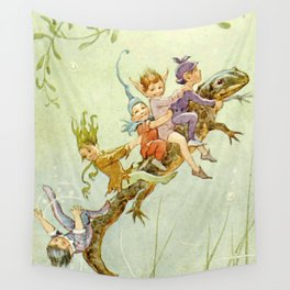 """""""The Pond Fairies"""" by Margaret Tarrant Wall Tapestry"""