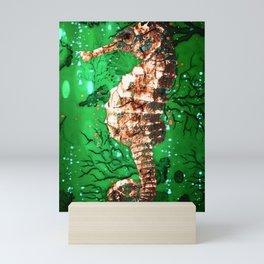 Sea Horse of the Emerald Sea Mini Art Print