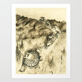 Left behind Art Print